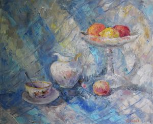 Painting, Still life - Morning still life