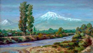 Painting, Realism - Ararat valley