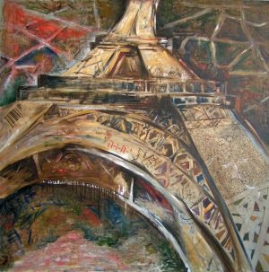 Painting, City landscape - Paris