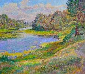 Painting, Impressionism - By the river