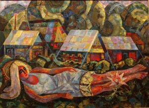 Painting, Avant-gardism - Sweet dream of townswoman