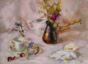 Painting, Realism - stil life with