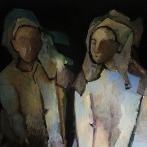 Painting, Expressionism - sisters