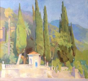 Painting, Landscape - Embankment in Gagra