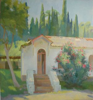 Painting, Landscape - In New Athos