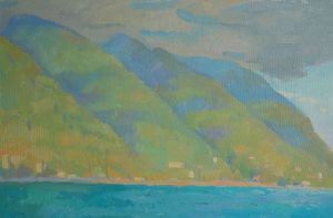Painting, Seascape - Mountains near the Black Sea