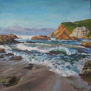 Painting, Realism - sea