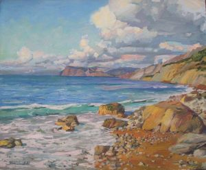 Painting, Seascape - black sea