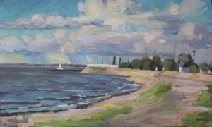 Painting, Realism - azov sea