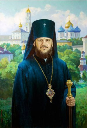 Painting, Portrait -  Portrait of the rector of the Moscow Theological Academy Ambrose (Ermakova).
