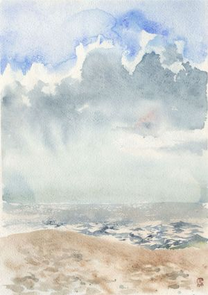 Graphics, Seascape - Sea and clouds