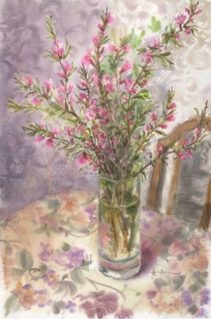 Graphics, Impressionism - Almond blossoms