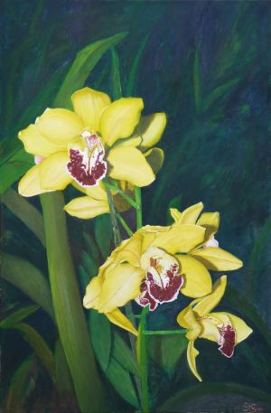 Painting, Interior - Sunny orchids