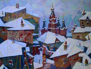 Painting, City landscape - Winter Kazan.