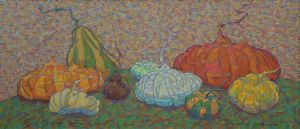 Painting, Acrylic - Pumpkins and squash.