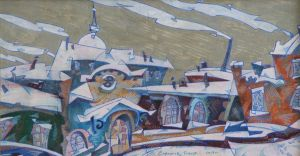 Painting, City landscape - Kazan. Wind.