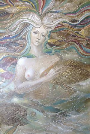 Painting, Surrealism - The Mermaid