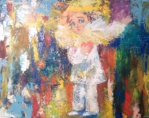 Painting, Expressionism - Pierrot