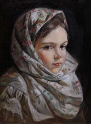 Painting, Portrait - girl