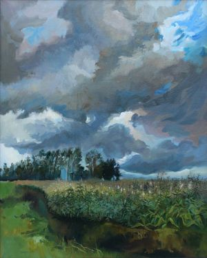 Painting, Expressionism - Bad weather