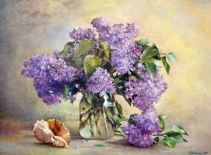 Painting, Still life - Purple mood
