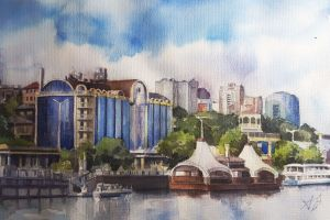Graphics, Realism - Embankment in the city of Rostov-on-don
