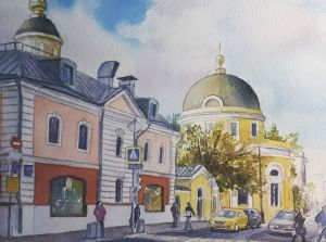 Graphics, Realism - Moscow, Ordynka (work 2)