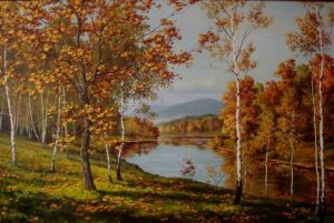 Painting, Landscape - Autumn in Primorye