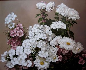 Painting, Still life - Phlox