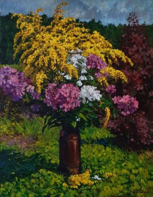 Painting, Still life - Field bouquet