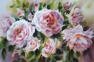 Painting, Realism - pure roses