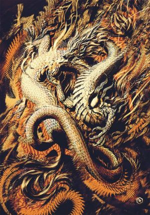 Painting, Expressionism - Oriental Dragon II