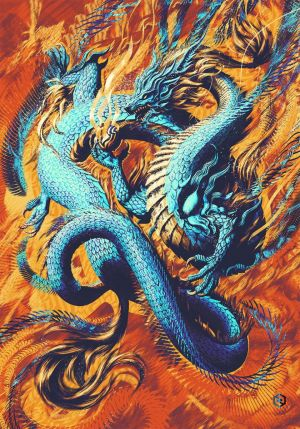 Graphics, Expressionism - ORIENTAL DRAGON