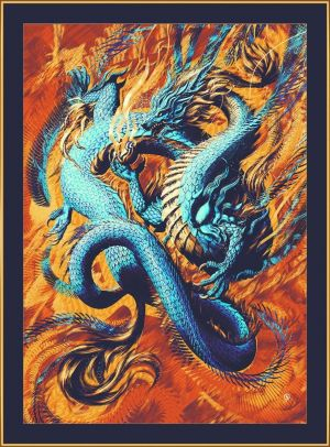 Painting, Mythological genre - Oriental Dragon