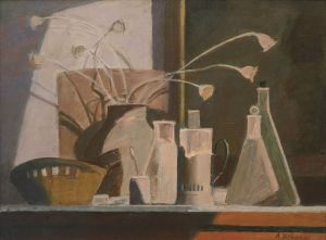 Painting, Still life - Still life with a basket
