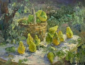 Painting, Impressionism - Autumn. Pears