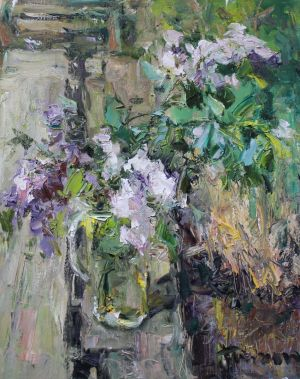 Painting, Impressionism - «The branch of lilac»