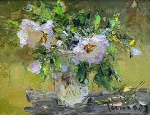 Painting, Impressionism - From the series flowers of spring No17