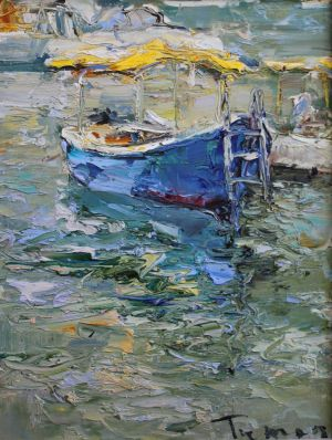 Painting, Impressionism - «Balaklava boats No19. Journey to the Crimea»