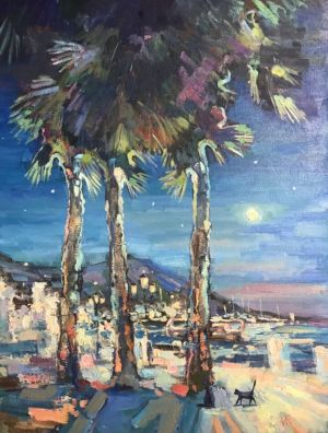 Painting, Seascape - Yalta night