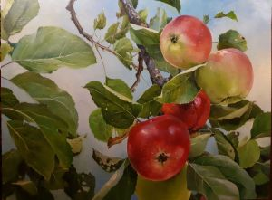 Painting, Realism - The apples