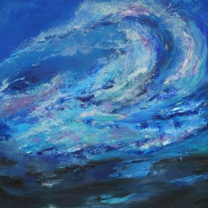 Painting, Abstractionism - The Wave. Deepness