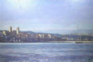 Painting, Oil - Cote d'Azur, France