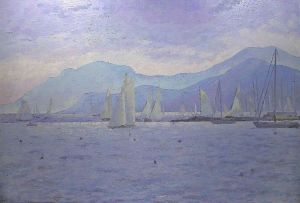 Painting, Oil - CANNES, Cote d'Azur, FRANCE
