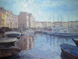 Painting, Oil - SAINT TROPEZ, Morina