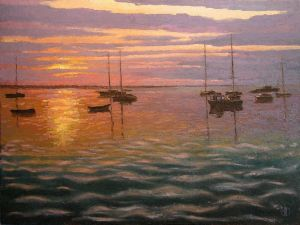 Painting, Seascape - GOLD SUNSET