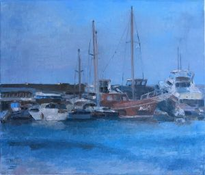Painting, Impressionism - Cyprus, Girna, Morina