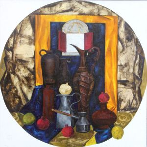 Painting, Oil - Eastern still life