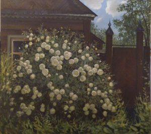 Painting, Landscape - tea rose