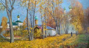 Painting, Landscape - The Boris and Gleb monastery